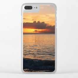 A Cayman Sunset Clear iPhone Case
