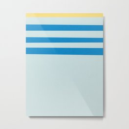 Ocean Waves #1 #stripes #decor #art #society6 Metal Print
