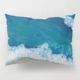 Rolling Beach Waves Pillow Sham