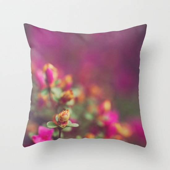 The Pink Orange Throw Pillow