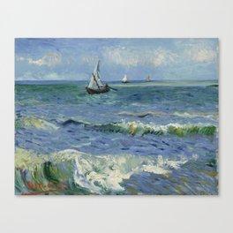 Seascape near Les Saintes-Maries-de-la-Mer Canvas Print