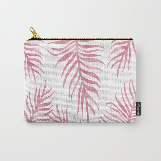 Fern Pattern Pink Carry-All Pouch