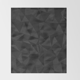 Dirty Dark Geo Throw Blanket