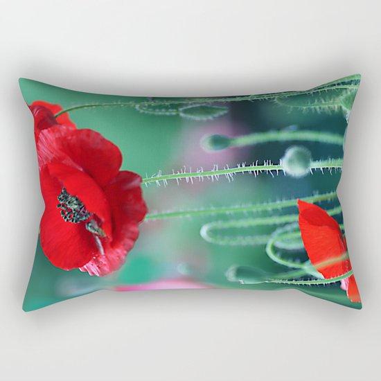 Poppies (light)2. Rectangular Pillow