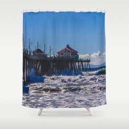 Weekend Waves - Surf City USA Shower Curtain