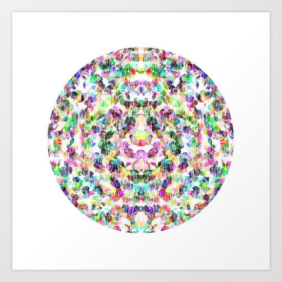 Lavender Circle Art Print