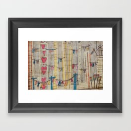 Its a good drying day  Framed Art Print