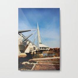 Esplanade Riel Suspension Bridge Metal Print