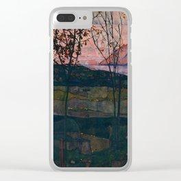 "Egon Schiele ""Setting Sun"" Clear iPhone Case"