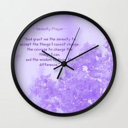 Serenity Prayer - V Wall Clock