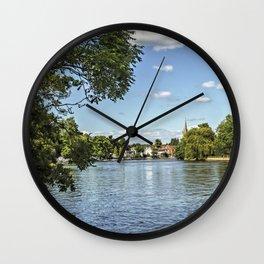 Nearing Marlow on Thames Wall Clock
