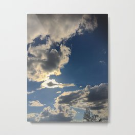 Clouds in my head Metal Print