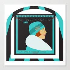 Art Deco Magazine Canvas Print