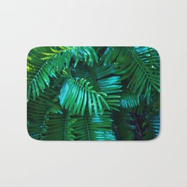 Green Palm Leaves Bath Mat