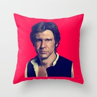 han solo Throw Pillows featuring Han Solo  by Jemma Klein
