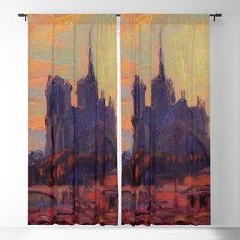"""Albert Lebourg """"Notre Dame de Paris"""" (1895) Blackout Curtain"""