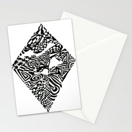 Diamond, Black/White Abstract (ink drawing) Stationery Cards
