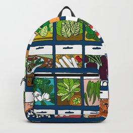 Veggie Seeds Pattern Backpack