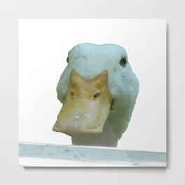 Peeking Duck Vector Metal Print