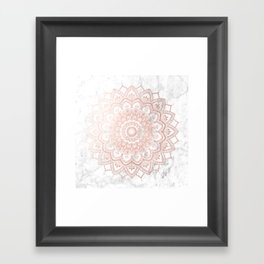 Pleasure Rose Gold Framed Art Print