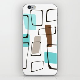 Midcentury Modern Shapes iPhone Skin