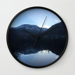 Evening reflection over the Loch Wall Clock