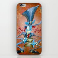 mad hatter iPhone & iPod Skins featuring Mad Hatter by Bili Kribbs