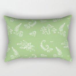 Lady Fern - Green Rectangular Pillow