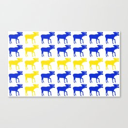 Graphic Swedish Moose Flag I Canvas Print