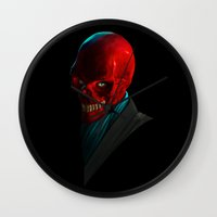 melissa smith Wall Clocks featuring JOHN SMITH by John Aslarona