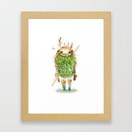 Green Samurai Framed Art Print