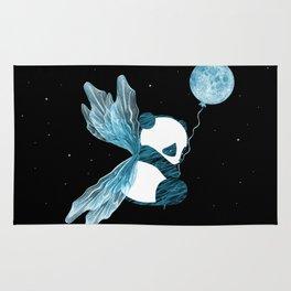 Space Angel Panda Bear   Blue Rug