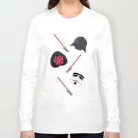 dark side Long Sleeve T-shirts featuring dark side by ptero