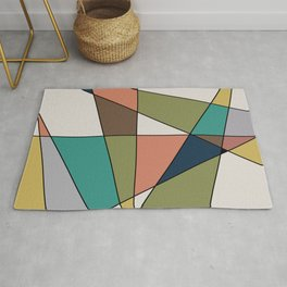 Mid Century Modern Triangle Abstract Rug