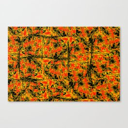Golden Red Canvas Print