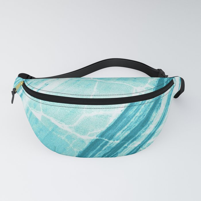 Abstract Marble - Teal Turquoise Fanny Pack