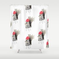 rooster Shower Curtains featuring Rooster by Imanol Buisan