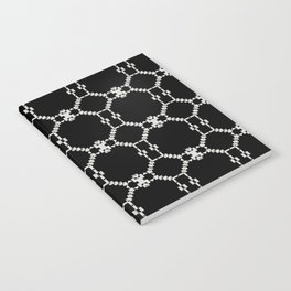 INSOMNIA black and white minimalist abstract pattern Notebook
