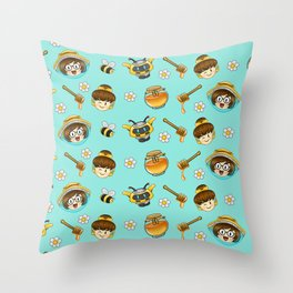 Mei and Dva bee-watch Throw Pillow