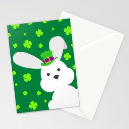 ST. PATRICK'S DAY BUNNY (abstract animals nature flowers happy irish, patricks) Stationery Cards