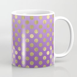 Purple Ombre Gold Dots Coffee Mug