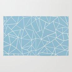 Abstraction Outline Sky Blue Rug