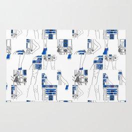 Robot Girl Cubism Rug