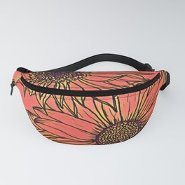 Neon Blooms Fanny Pack