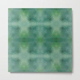 Kaleidoscopic design in green colors Metal Print