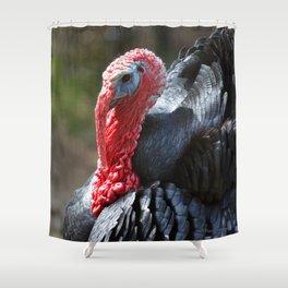 Turkey Day Dinner Shower Curtain
