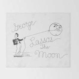 It's a Wonderful Life - George Lassos the Moon Throw Blanket