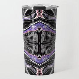 Nature is Watching (Black & Purple) Travel Mug