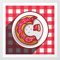 donut Art Prints featuring Donut by ArievSoeharto