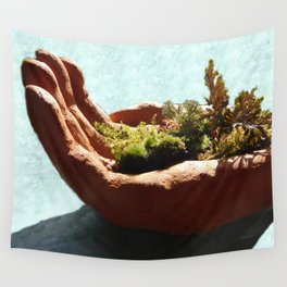 Bush in the Hand Wall Tapestry